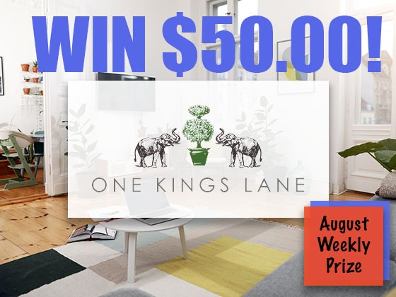 Win $50 to One Kings Lane!