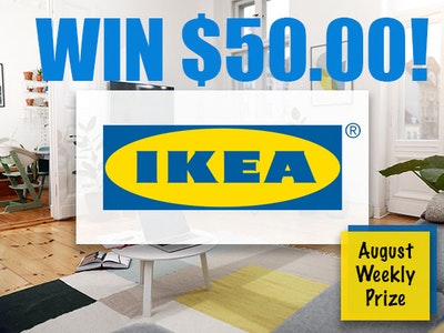 Weekly Prize - IKEA sweepstakes