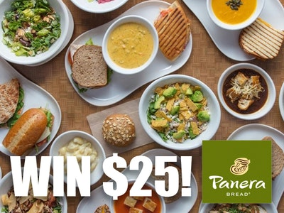 WinIt Wednesday $25 Panera Bread Gift Card! sweepstakes
