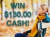 $150 Cash Prize October 2019 sweepstakes
