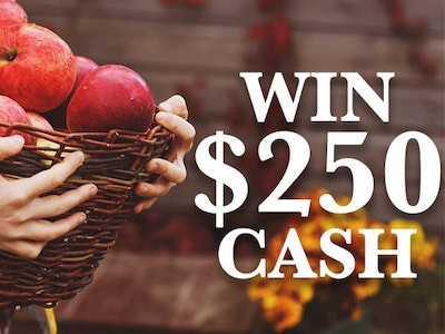 $250 Cash Prize October 2019 sweepstakes