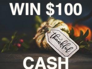 100 cash prize