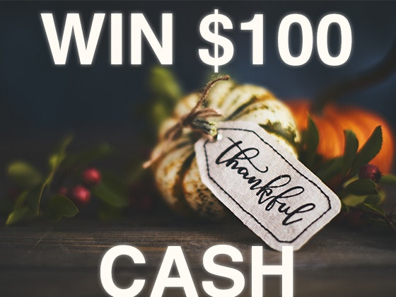 $100 Cash November 2019 sweepstakes