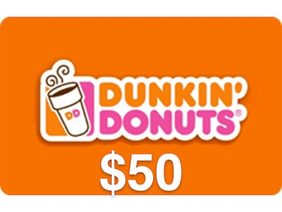 $50 Dunkin' Donuts Gift Card sweepstakes