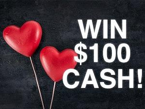 Win  100 cash