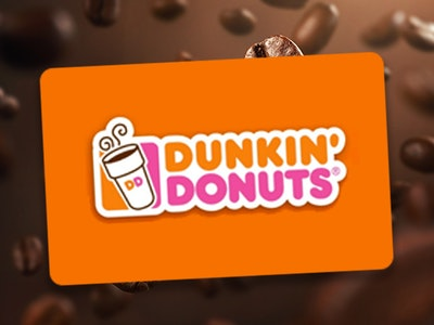 $25 Dunkin' Donuts Gift Card sweepstakes