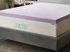 LUCID 3 Inch Lavender Infused Memory Foam Mattress Topper sweepstakes