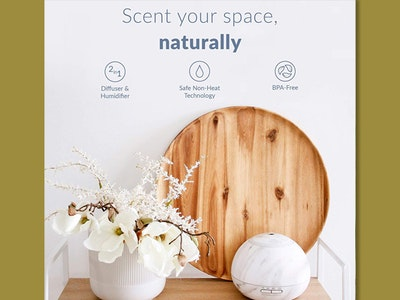 Hathaspace Marble Essential Oil Aroma Diffuser! sweepstakes