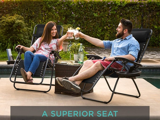 Adjustable Zero Gravity Lounge Chair Recliners! sweepstakes