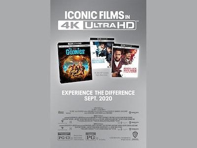 The Goonies, Sherlock Holmes and Sherlock Holmes: Game of Shadows 4K Digital Movies! sweepstakes