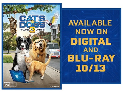 Cats & Dogs 3: Paws Unite! Digital Movie sweepstakes