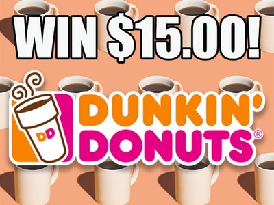 $15 Dunkin Donuts Gift Card! sweepstakes