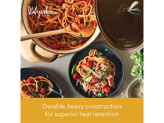 The Ayesha Curry Cast Iron Enamel Dutch Oven! sweepstakes