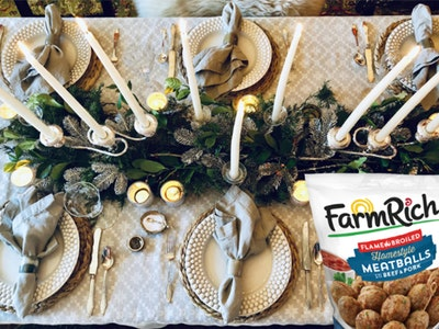 Winter Tablescape Kit + Appetizers from Farm Rich! sweepstakes