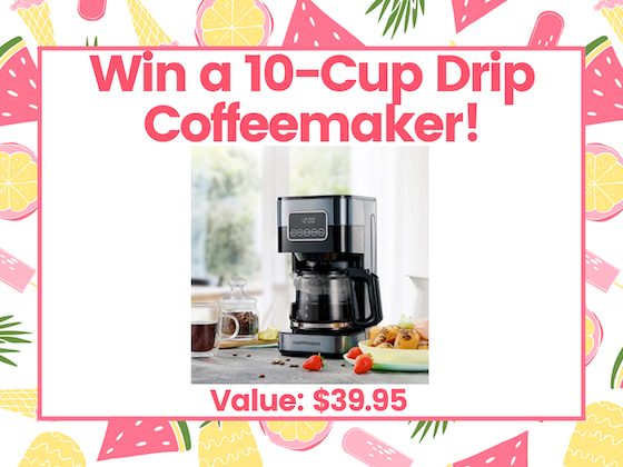 10-Cup Drip Programmable Coffee Maker! sweepstakes