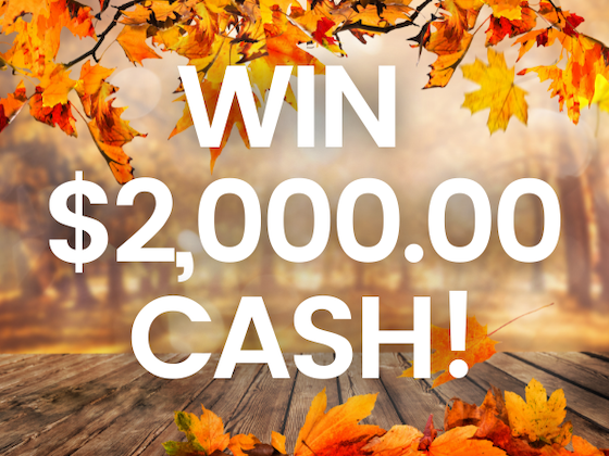 $2,000.00 Cash sweepstakes