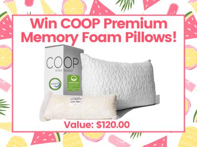 Coop Premium Memory Foam Pillows! sweepstakes