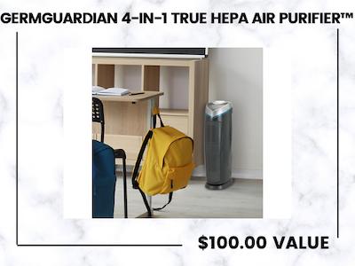Win GermGuardian 4-in-1 True HEPA Air Purifier™ Back-to-School Giveaway! sweepstakes