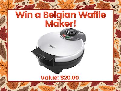 Belgian Waffle Maker! sweepstakes