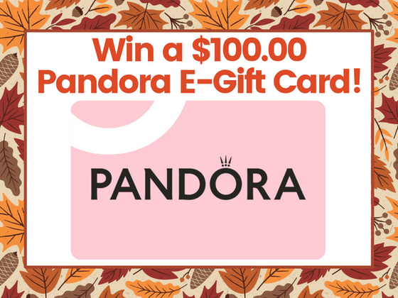 $100.00 Pandora E-Gift Card! sweepstakes