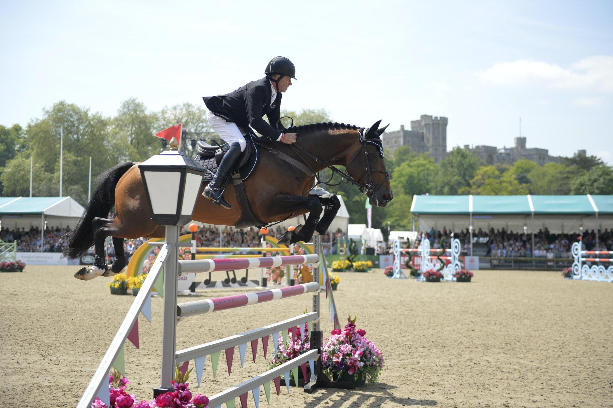 Nick skelton and big star at royal windsor horse show 2014