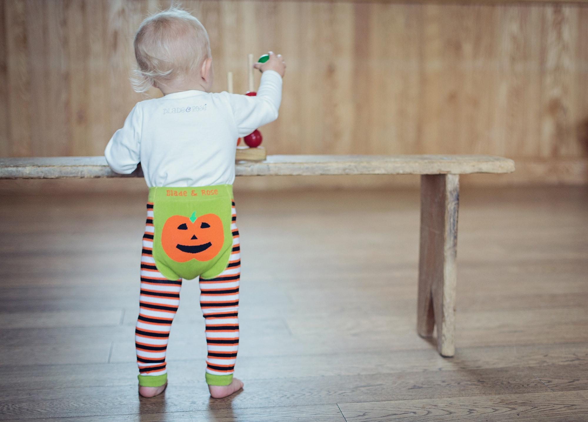 Pumpkin leggings toddler lifestyle