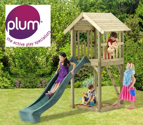 Premium wooden look out tower summer action 2 25501