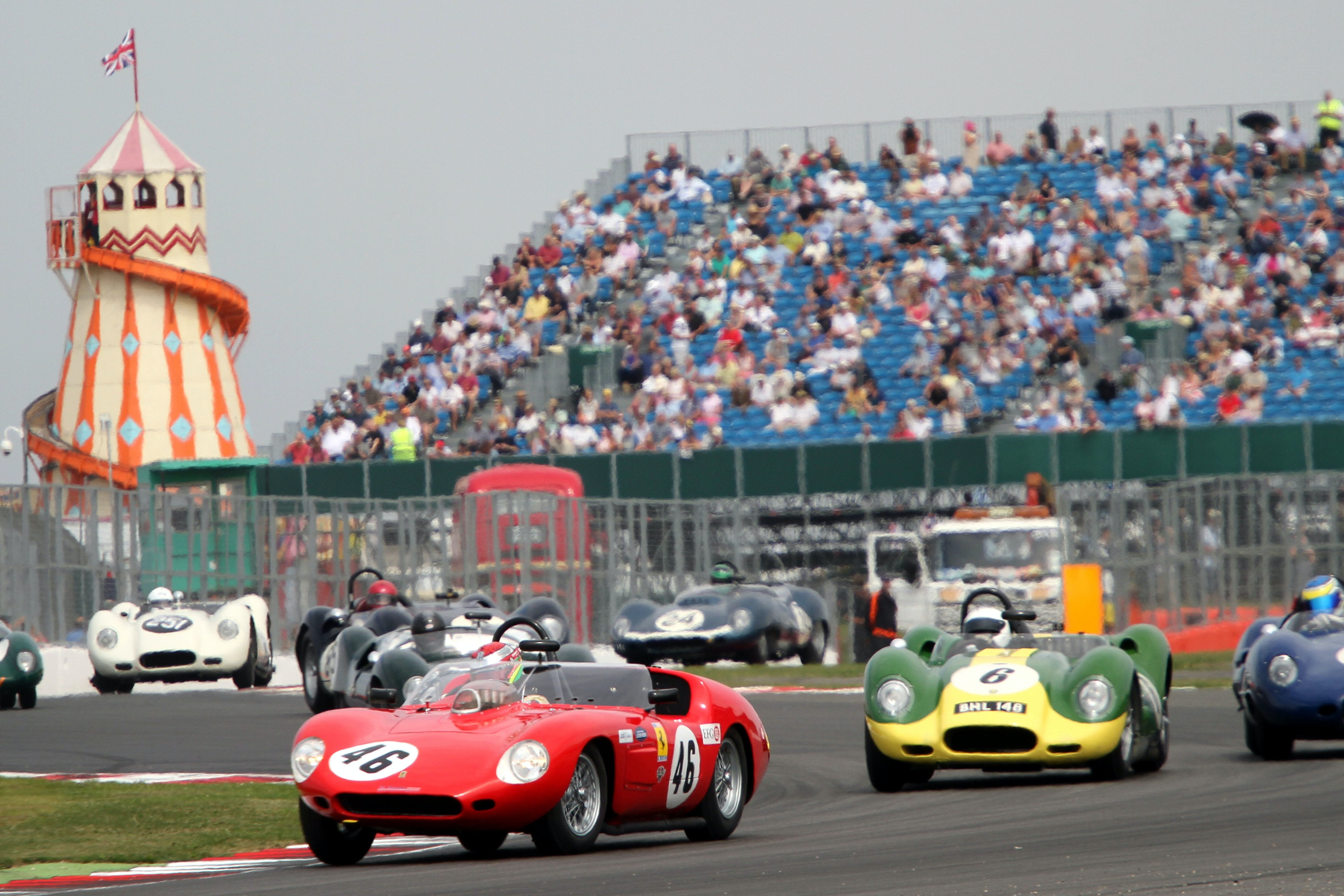 Silverstone classic race action 4