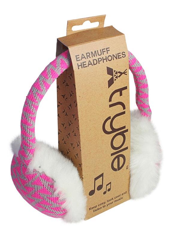 Earmuffheadphones pinkgrey pack