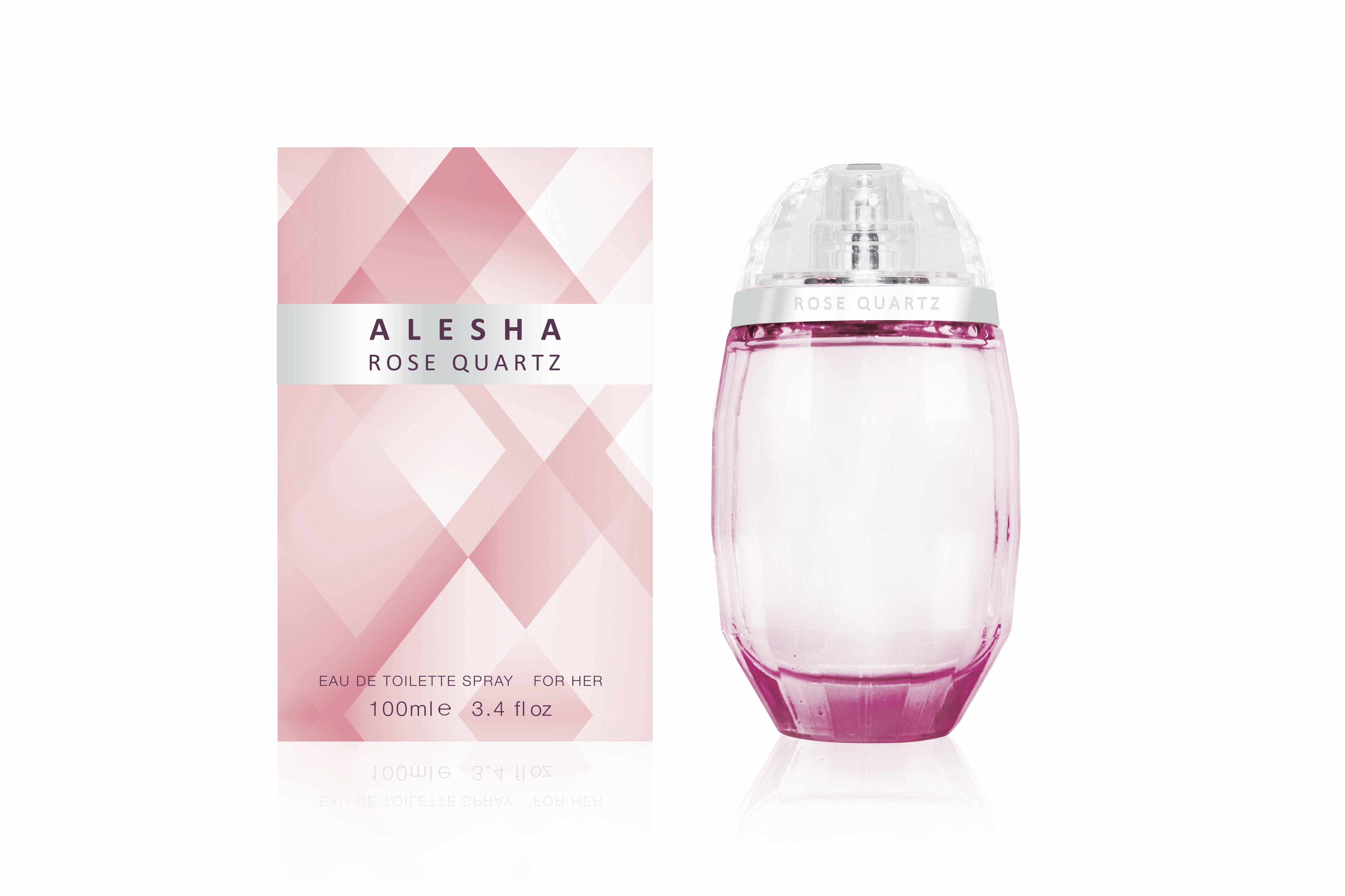 Alesha rose quartz with box 100ml 24 50 credit as nationwide stockists