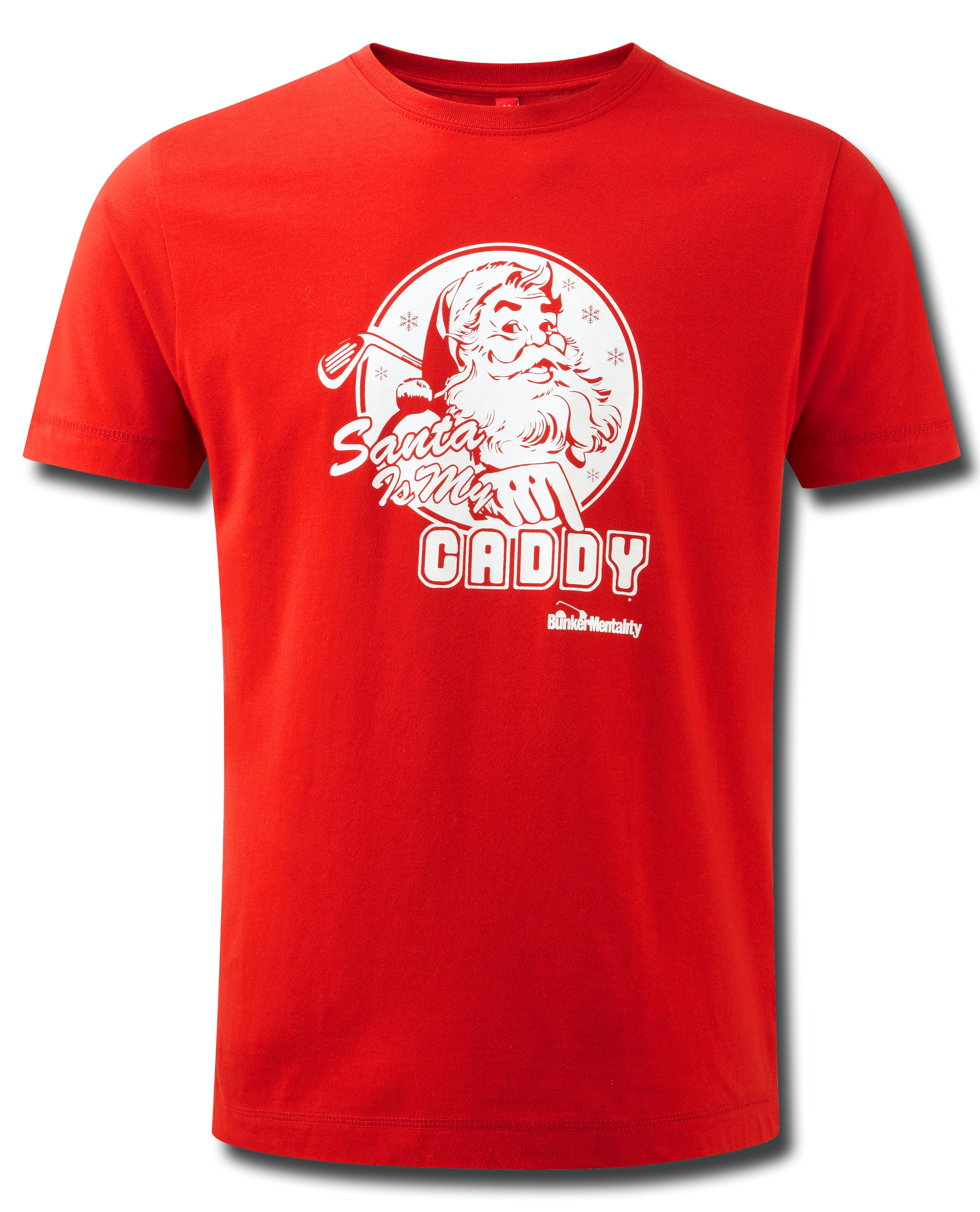 Santa is my caddy t shirt red