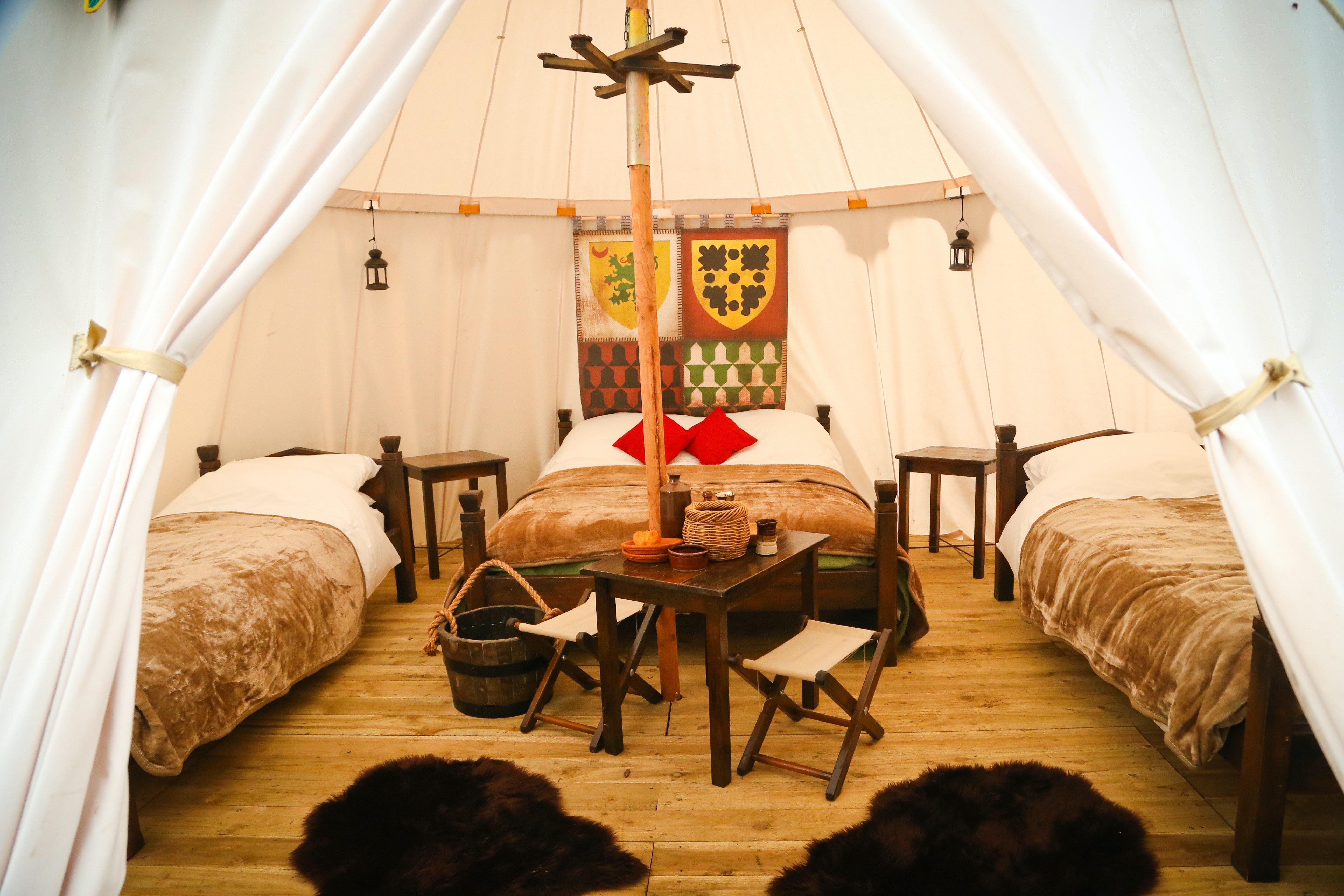 Castle tent interior