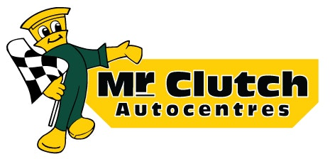 Mr clutch buckle logo character left rgb