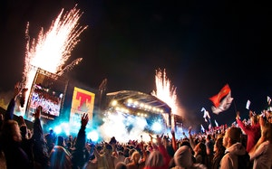 T in the park main stage fireworks