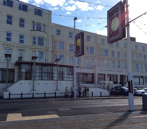 Front of the claremont blackpool choice hotels 1