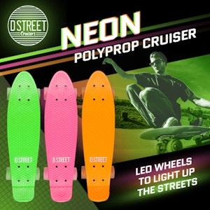 Heelys d street neon polyprop cruiser