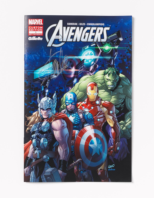 Gillette avengers comic