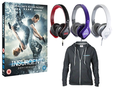 Win Insurgent DVD, JVC Headphones & £200 voucher sweepstakes