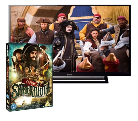 Win a 40in HD TV & DVD of Captain Sabertooth sweepstakes