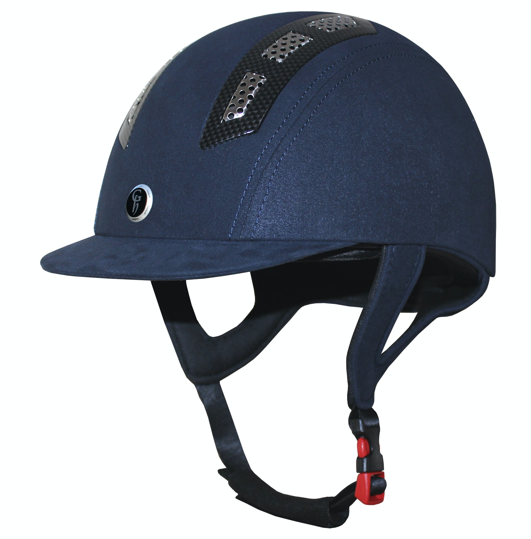 Gatehouse chelsea riding helmet navy suedette