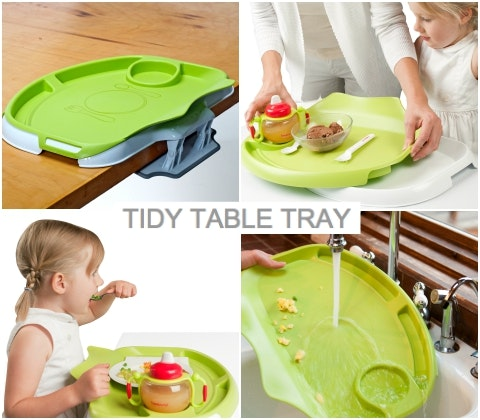 Tidy table tray collage