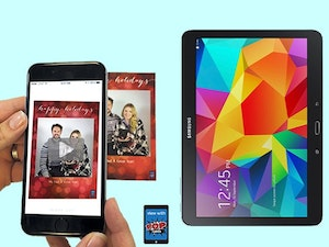 Samsung tablet with popcards