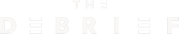 The debrief logo